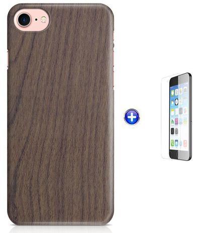 Imagem de Kit Skin Adesivo Protetor iPhone 7 + Pel Vidro (Madeira)