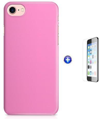 Imagem de Kit Skin Adesivo Protetor iPhone 7 + Pel Vidro (Rosa Claro)