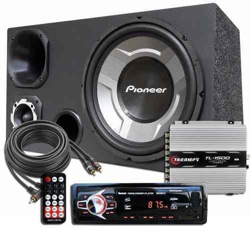 Imagem de Kit Som Caixa Trio Sub Pioneer Aparelho Bluetooth Taramps