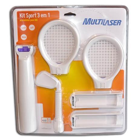 e79568284 Kit Sport 3 Em 1 Para Nintendo Wii Js058 - Multilaser - Acessórios ...