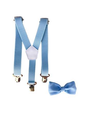 Imagem de Kit Suspensório E Gravata Borboleta Infantil Azul Bebê
