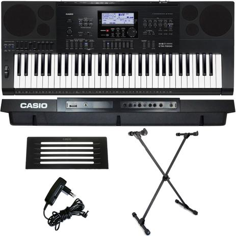 5061cdc0f2d Kit Teclado Arranjador 61 Teclas CTK-7200 Casio Com X10S ASK ...