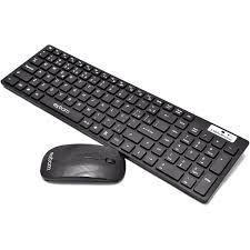 Imagem de Kit teclado e mouse gamer sem fio usb mac e windows combo premium profissional 10m wireless