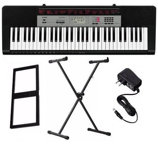 Imagem de Kit Teclado Musical CTK-1500 Casio + Fonte + Suporte