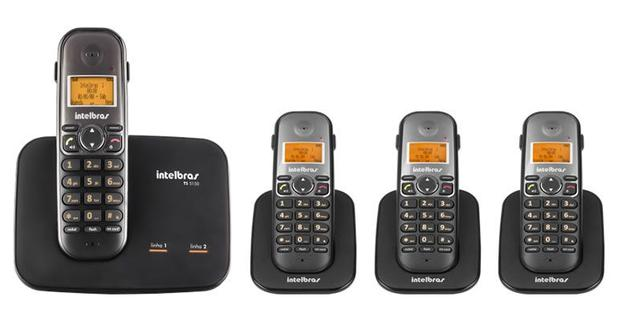 Imagem de Kit Telefone 2 Linhas Ts 5150 + 3 Ramais Ts 5121 Intelbras