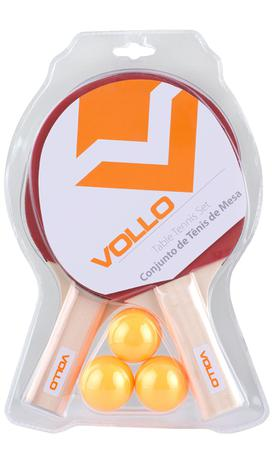 78987e060 Kit Tênis de Mesa - 2 Raquetes + 3 Bolas - Vollo - Vollo brasil ...
