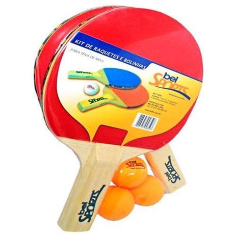 Kit Tenis de Mesa 2 Raquetes 3 Bolinhas Bel Fix - Ping Pong ... ac74ffb33642b
