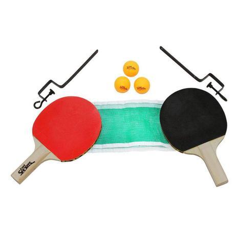 57556e634 Kit Tenis de Mesa 2 Raquetes 3 Bolinhas Suporte e Rede Bel Fix ...