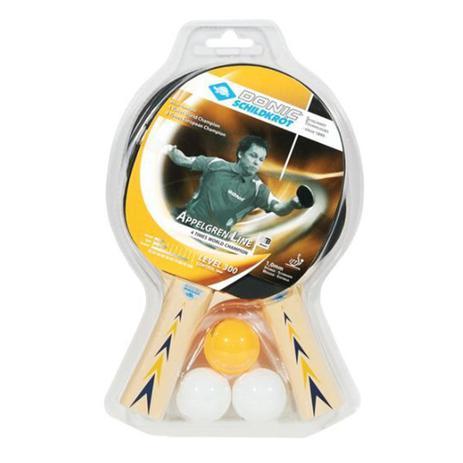 Kit Tênis de Mesa Donic Appelgren 2 Player Set 300 com 03 Bolas e 02  Raquetes 1 e8ad0c9c67e35