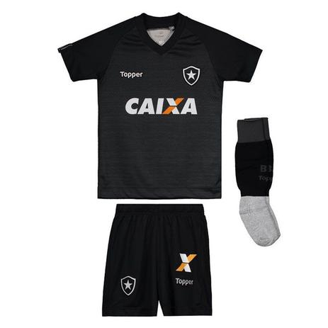 7bffb21b47178 Kit Topper Infantil Botafogo II 2017 - Futebol - Magazine Luiza
