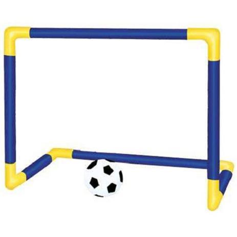 Imagem de Kit trave e bola infantil chute a gol com rede brinquedo futebol