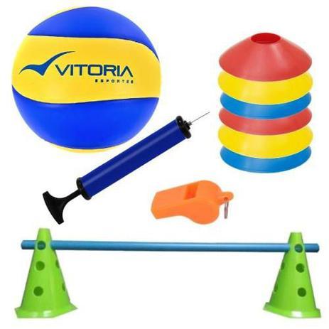 b94d9886a kit Treinamento 1 Bola Volei Oficial Vitoria + 9 Acessórios - Vitoria  esportes