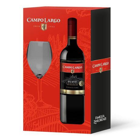 Imagem de Kit Vinho e Taça Tinto Suave de Mesa Garrafa 750ml