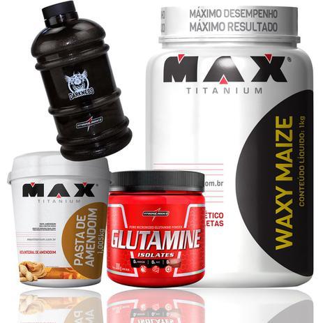 e4b42024d Kit Waxy Maize Glutamina Pasta De Amendoim Galão Integral Max - Probiótica