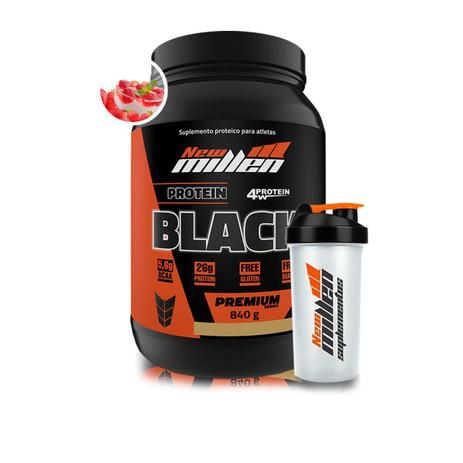 894eb42bd Kit Whey Protein Black 840g + Coqueteleira - New Millen - Kit de ...