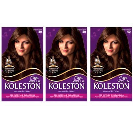 Imagem de Koleston Tinta 40 Castanho Médio (Kit C/03)