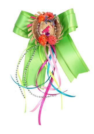 e0327f9f38 Laço junino CURAU: verde com chapéu de palha e tic tac - Festa Junina -  Tango fantasias