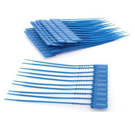 Imagem de Lacre P/ Malote Numerado Azul 16 cm Pacote Com 100 Unidades Kaz