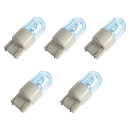 Imagem de Lâmpada Automotiva Led Esmagada Azul 12V Painel Placa Lanterna Teto Porta Luvas - 5 Unidades