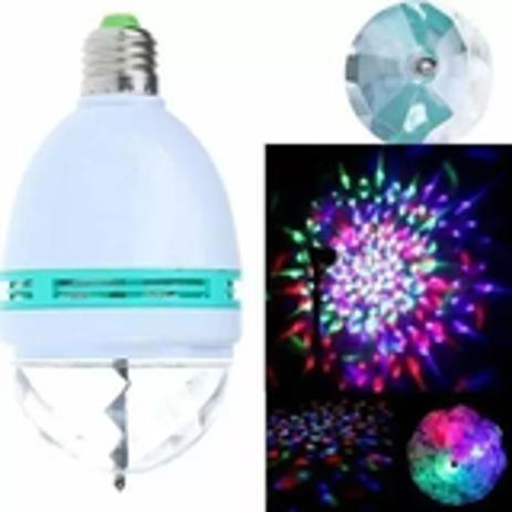 Imagem de Lampada globo giratório colorida