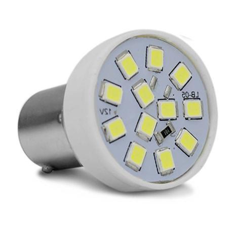 Imagem de Lâmpada LED Tuning 1 Polo Trava Reta 6500K 2,4W 12V Luz Branca Ré Autopoli