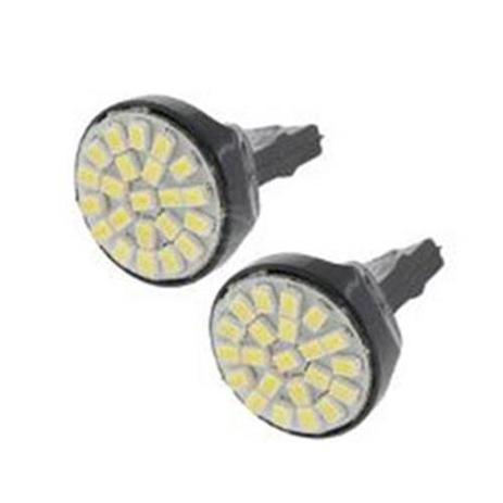 Imagem de Lâmpada tipo 3156 12 leds branco 12v para lanternas luz de seta de ré de freio 10 pçs