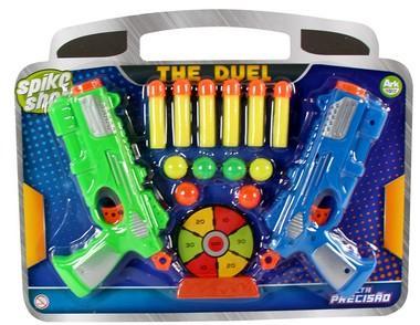 Imagem de lança dardos duelo spike shot kit 2 lançadore