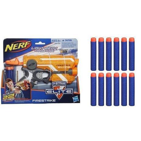 31d6f4ab37 Lançador NERF N-STRIKE Elite Firestrike + Refil Dardos Elite Hasbro ...