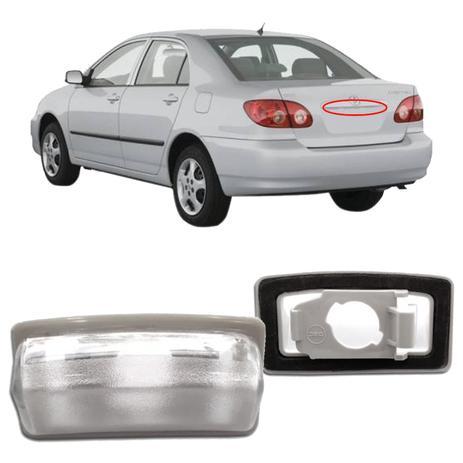 Imagem de Lanterna de Placa Corolla Fielder 2003 2004 2005 2006 2007 2008 Sem Soquete Esquerdo