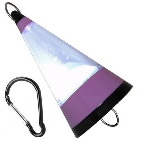 Imagem de Lanterna Lampião Camping de Pendurar a Pilhas 12 LEDs WMTLL80091 Lilás