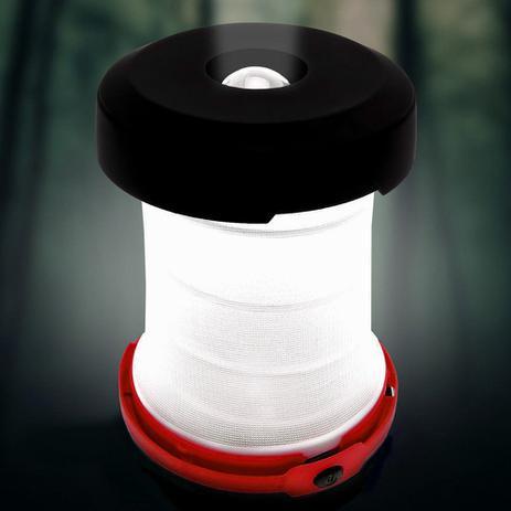 Imagem de Lanterna Luminária Pop-up 1 Super Led Camping e Decoração DS-1589 VERMELHO