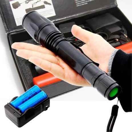 0469019c1b Lanterna Tática Led 99000w Com Zoom 4 Baterias E Red Sinalizador -  6acessorios