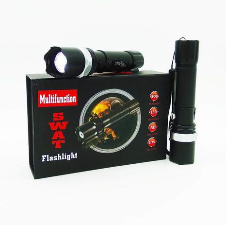 17160e5a7b Lanterna Tática Led Swat 250000W Com Zoom Bateria + Red Sinalizador -  Imports