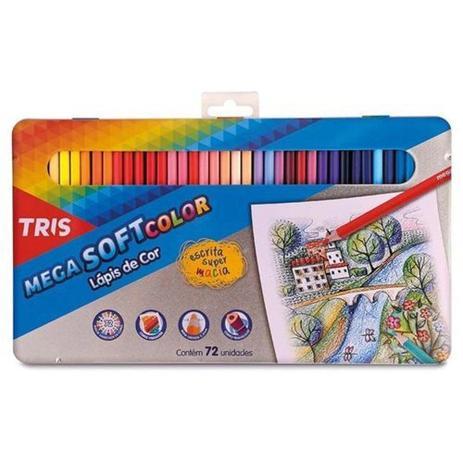 Imagem de Lapis Cor Tris Mega Soft Color 72 Cores
