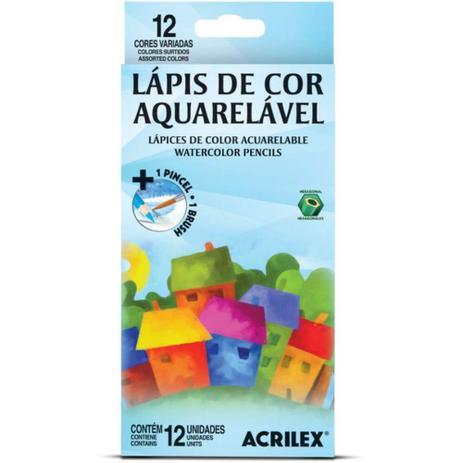 Imagem de Lápis de Cor 12 Cores Aquarelável 09652 Acrilex