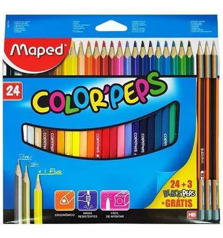 Imagem de Lapis De Cor 24 Cores Colorpeps Maped +3 Lápis De Brinde