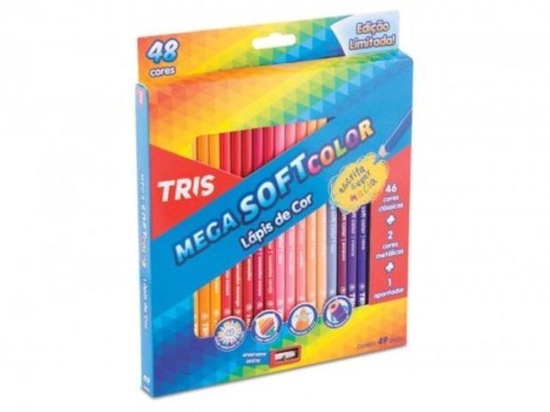 Imagem de Lápis de Cor 48 Cores Mega Soft Color Tris