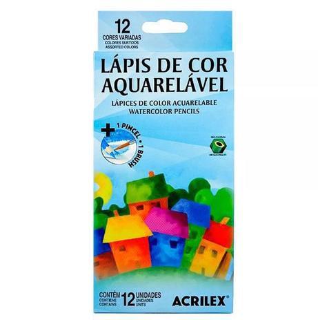 Imagem de Lápis de Cor Acrilex 12 Cores Aquarelável - Ref. 09652