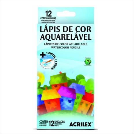 Imagem de Lápis de Cor Aquarelável Acrilex 012 Cores 09652 09652