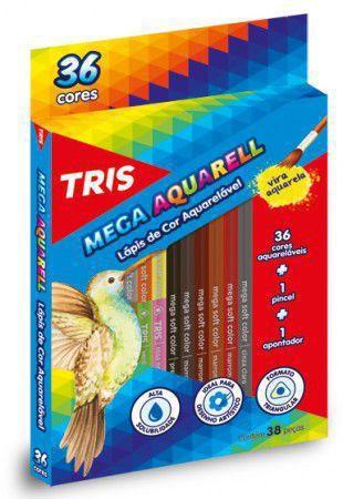 Imagem de Lápis de Cor Aquarelável Tris Mega Aquarell Triangular 036 Cores 682631 682631