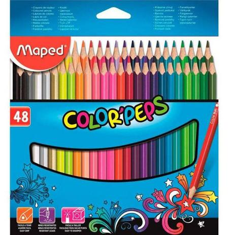 Imagem de Lápis de Cor Color Peps 48 Cores 832048ZV-Maped