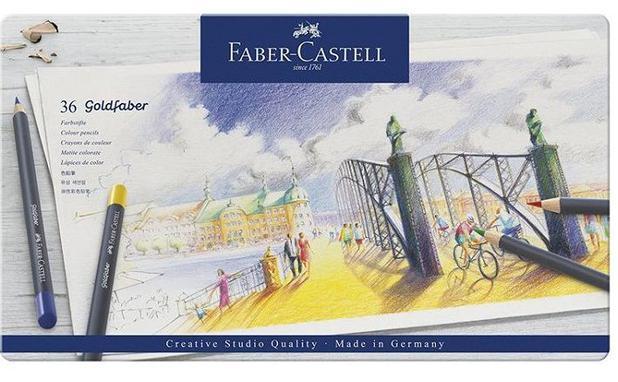 Lápis de Cor Faber Castell Goldfaber Metálico - Estojo Metal 036 Cores  114736