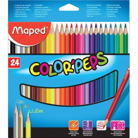 10a2150104 Lápis De Cor Maped 24 Cores Colorpeps - Lápis de Cor - Magazine Luiza