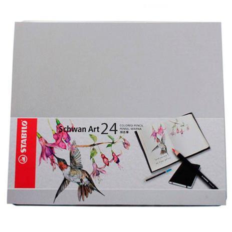 6a9ea475c4 Lápis de Cor Stabilo Schwan Art Estojo Metal 024 Cores 1510 24 ...