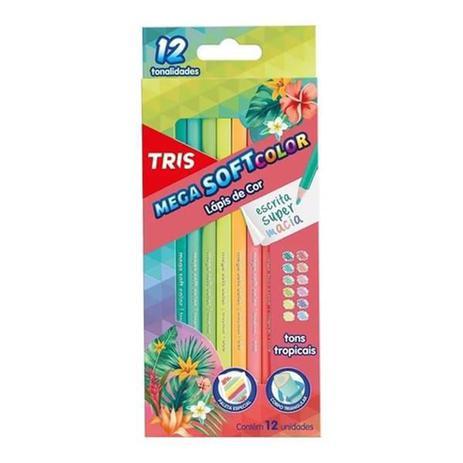 Imagem de Lapis de cor tris 12 cores mega soft tons tropicais