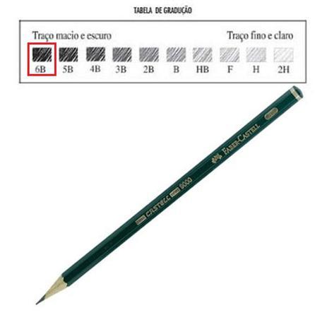 dae515046a Lápis grafite faber castell 9000 6b - Lápis de Cor - Magazine Luiza