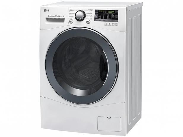 4e0c90cde Lava e Seca LG 11kg Smart Care Prime Touch - 14 Programas de Lavagem Água  Quente