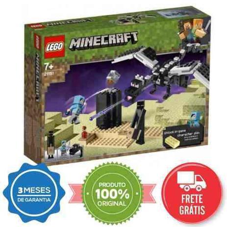 71c13c4a7d02 Lego Minecraft 21151 O Combate Do Fim 222 Peças - Blocos de montar ...