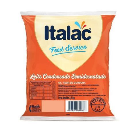 Imagem de Leite Condensado Semi Desnatado Italac Atacado Pack 2,5kg