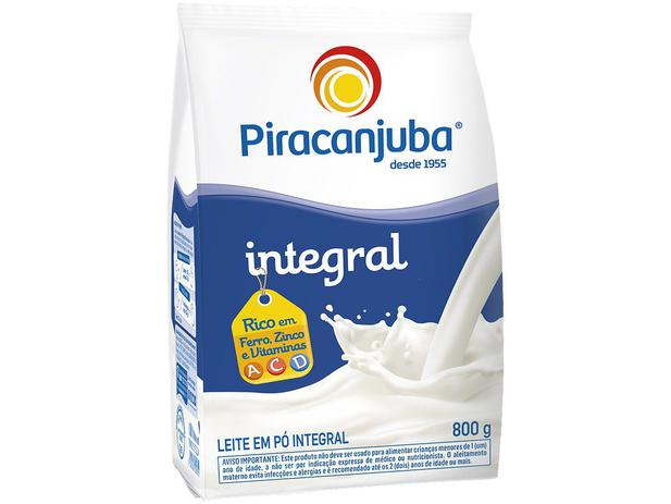 Imagem de Leite em Pó de Vaca Integral Piracanjuba 800g
